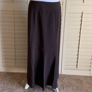 Dress Barn Brown Fitted Skirt With Bottom Flare